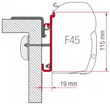 Fiamma F45 Awning Adapter Kit - Rapido Serie 9